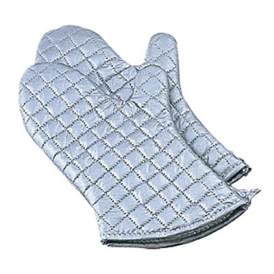 "Silicone Oven Mitts 17"" Pair Standard Domestic Weight"
