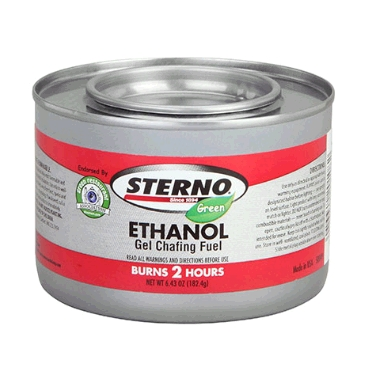 Sterno Green Ethanol Gel, 2 Hour, Item 20108